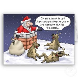 Funny-Christmas-Cards-Stuck